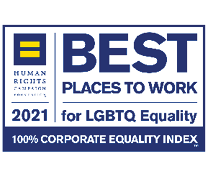 Human Rights Campaign 2021 Best Workplace for LGBTQ Equality, 100% Corporate Equality Index